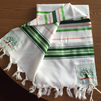 Tallit on wood