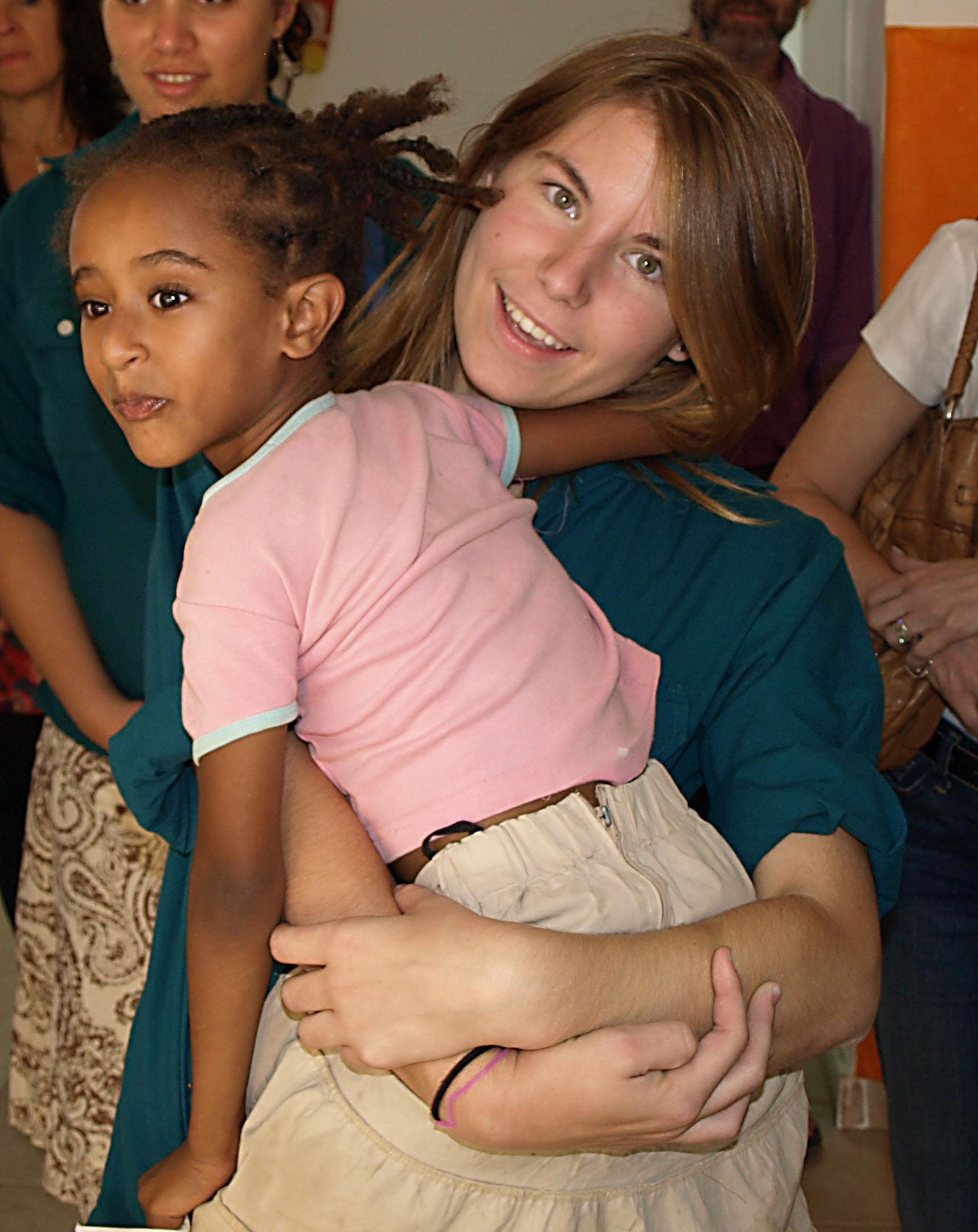 NOAM member with Ethiopian Jewish Child Illustrating Masorti Sermons