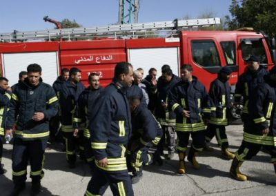 Palestinian Firefighters Helping in Israel November Fires