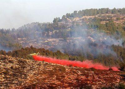 Brush Fire Near Nataf