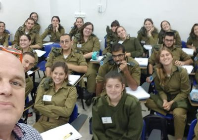 YIzhar Hess with Israeli Army kids