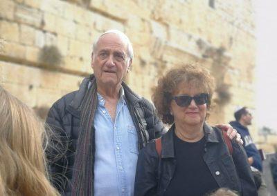 Masorti Israel couple at kotel