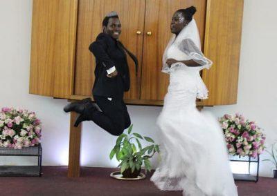 Abayudaya wedding jumping